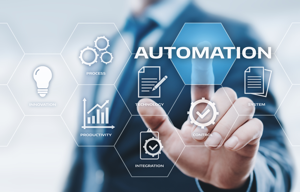 Automation Software Technology Process System Business concept.